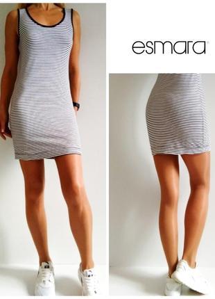 Незаменимое базовое платье мини короткое базовое платье в полоску