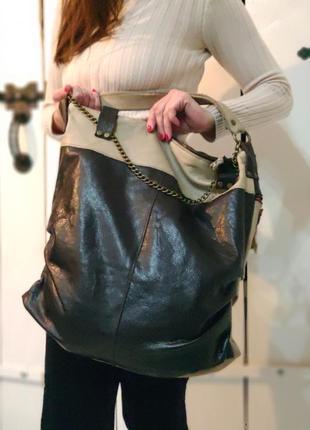 Kona. бооьшая сумка из натуральной кожи.