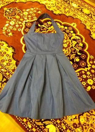Продам летнее платье насыщенного цвета электрик