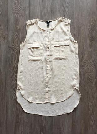 Блуза белая без рукавов