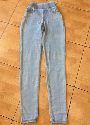 Идеальные джинсы скини на s, по талии удобная резинка