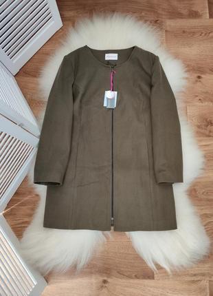 Стильное пальто на молнии, цвет хаки, р. 26