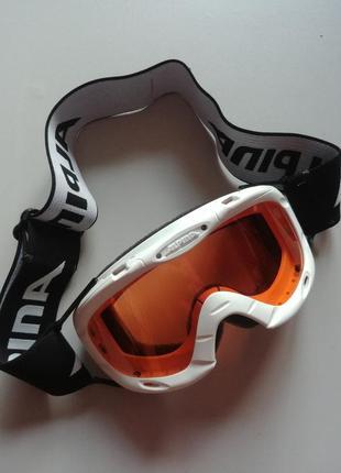 Маска детская лыжная alpina очки белая