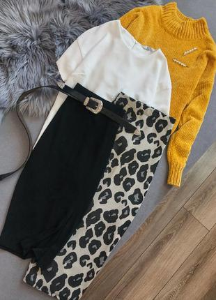 Черная юбка mango