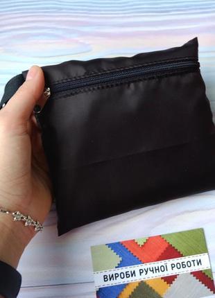 """Сумка-пакет """"маечка"""" для покупок с чехлом, эко сумка, торба, сумка шоппер, черный5 фото"""