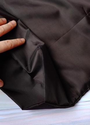 """Сумка-пакет """"маечка"""" для покупок с чехлом, эко сумка, торба, сумка шоппер, черный3 фото"""