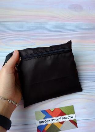 """Сумка-пакет """"маечка"""" для покупок с чехлом, эко сумка, торба, сумка шоппер, черный6 фото"""