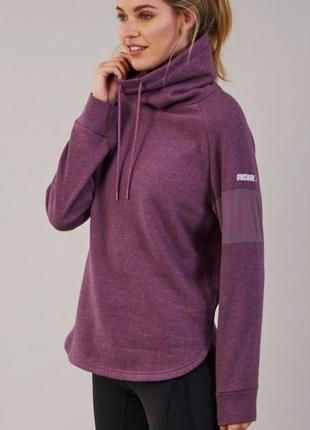Худи с высоким горлом gymshark slouch hoodie