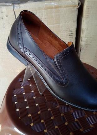 Туфли натуральная кожа классические коричневые
