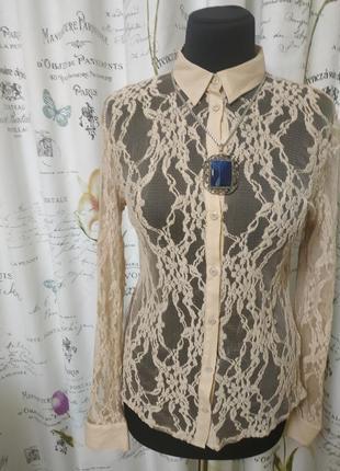 Блуза кружевная новая top secret, 46 размер