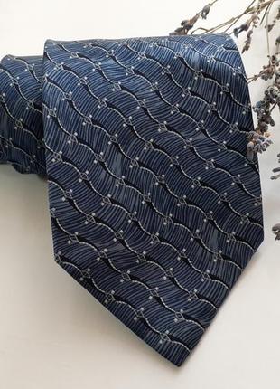 """Галстук """"морская волна"""" из натурального шелка , индия, винтаж"""