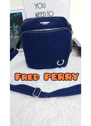 Fred perry джинсовая сумка