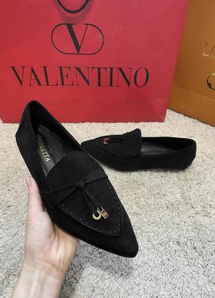 Женские черные лоферы/черные туфли/женские туфли плоский ход