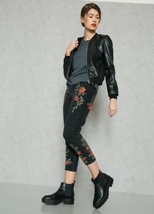 🎁1+1=3 плотные зауженные узкие мом mom джинсы с высокой посадкой topshop, размер 44 - 462 фото