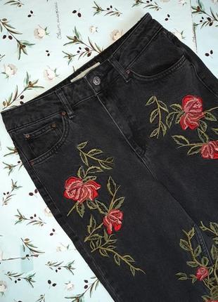 🎁1+1=3 плотные зауженные узкие мом mom джинсы с высокой посадкой topshop, размер 44 - 465 фото