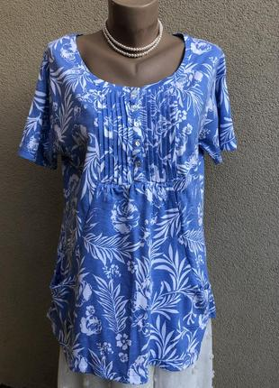 Новая футболка,блуза в принт,хлопок,этно бохо стиль