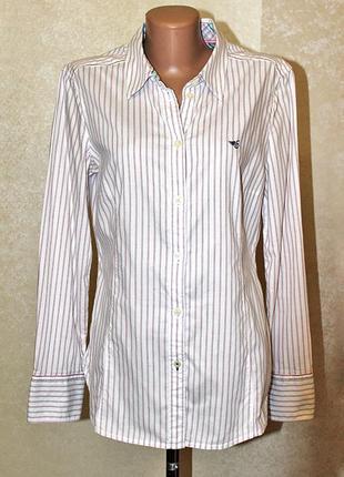 Стильная женственная рубашка в полоску esprit оригинал размер 12-14