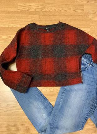 Фирменная укороченная кофта mango,теплая кофточка,свитер