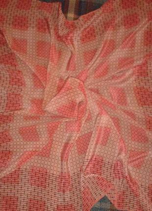 Шёлковый платок fisba stoffels, швейцария, винтаж