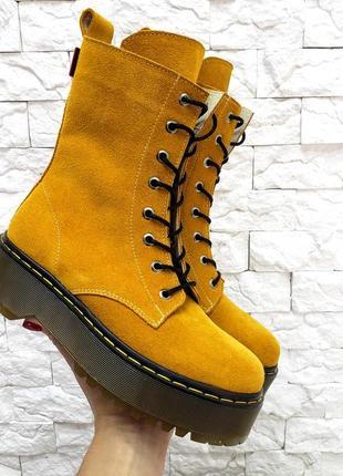 Ботинки woodstock итальянская замша