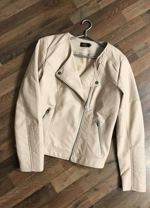 Куртка косуха кожаная only