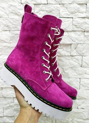 Крутые ботинки woodstock  итальянская замша