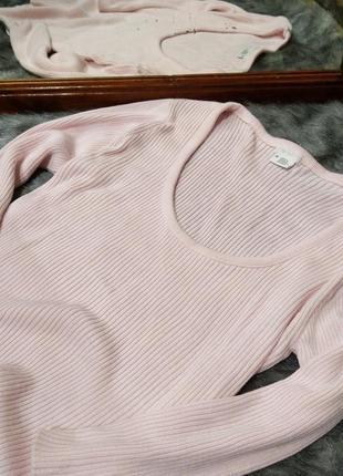 Блуза джемпер пуловер тонкий свитерок в рубчик