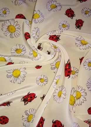 Милый шейный платок, аксессуар для сумочки, шёлк,шов роуль