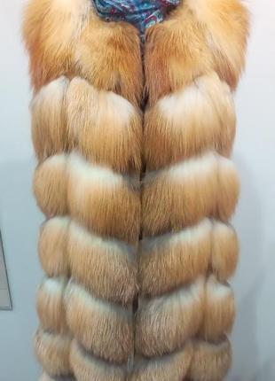 Лиса, жилетка распродажа магазина кожи и меха, шубы, жилеты