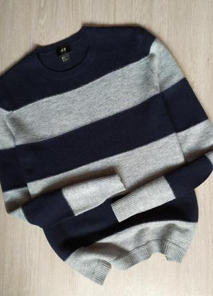 Мужской свитер / кофта / джемпер h&m (в составе шерсть)