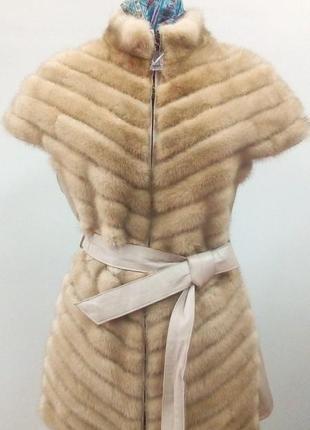 Норковая жилетка распродажа магазина кожи и меха, куртки, шубы, жилеты