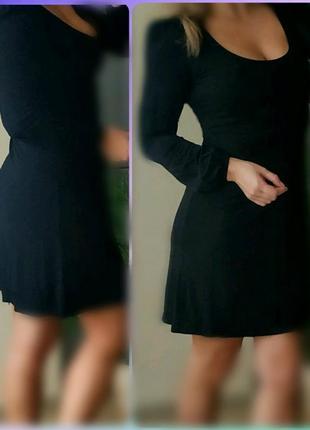 С-м  new look черное миди платье классика