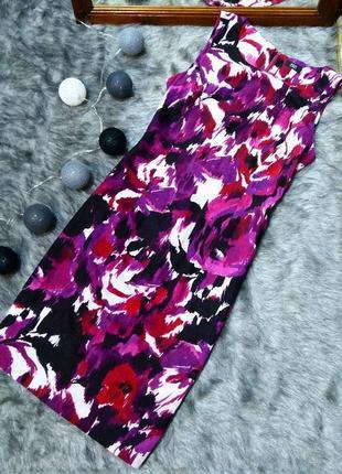 Платье футляр чехол из льна и вискозы f&f