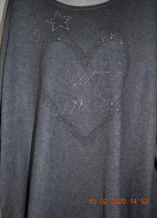 Красивый свитерок для больших модниц 20-22р