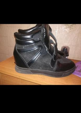 Сникерсы ботинки ботиночки платформа танкетка кроссовки