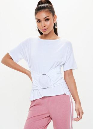Missguided. товар из англии. стильная футболка с кольцом.