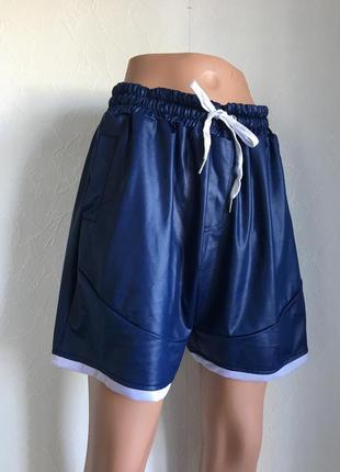 Мужские спортивные шорты темно синие
