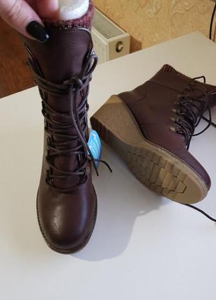 Фирменные ботинки сапожки mustang испания оригинал