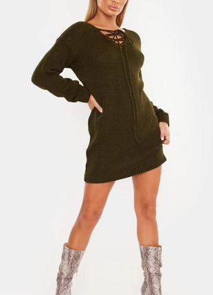 In the style.товар из англии.платье джемпер с шнуровкой.