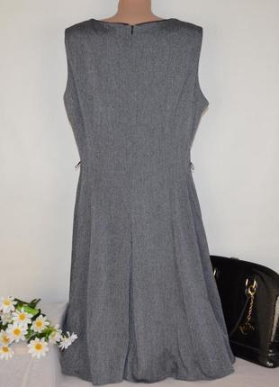 Брендовое серое нарядное миди платье next большой размер2 фото