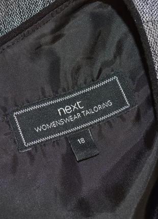 Брендовое серое нарядное миди платье next большой размер3 фото