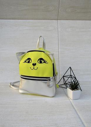 """Яркий рюкзак """"котик"""" handmade"""