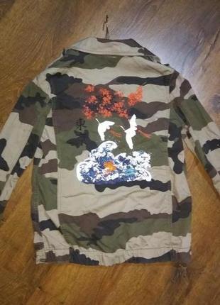 Куртка камуфляжная с рисунком