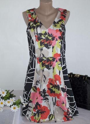 Брендовое разноцветное нарядное миди платье с вырезом на спине miss selfridge марокко