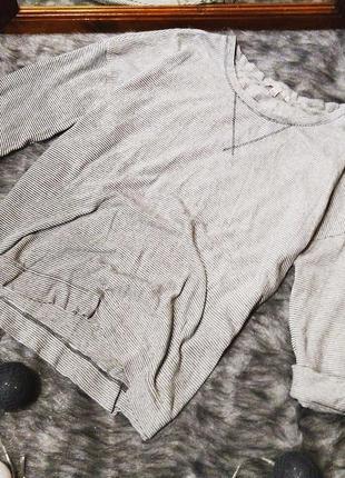 Пуловер джемпер блуза в полоску свободного кроя gap