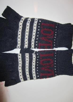 Митенки без пальцев love перчатки