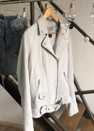 Натуральная брендовая косуха куртка курточка кожа замшевая