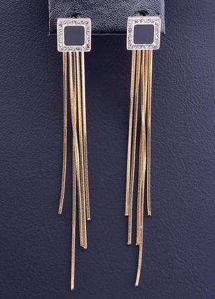 Серьги 'xuping' фианит (позолота 18к) 0883900