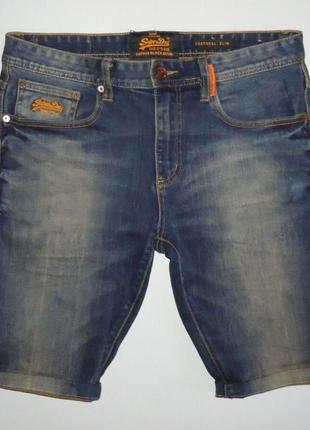 Шорты superdry corporal slim джинсовые (32)