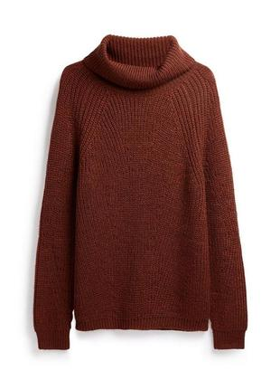 Теплый вязаный свитер primark